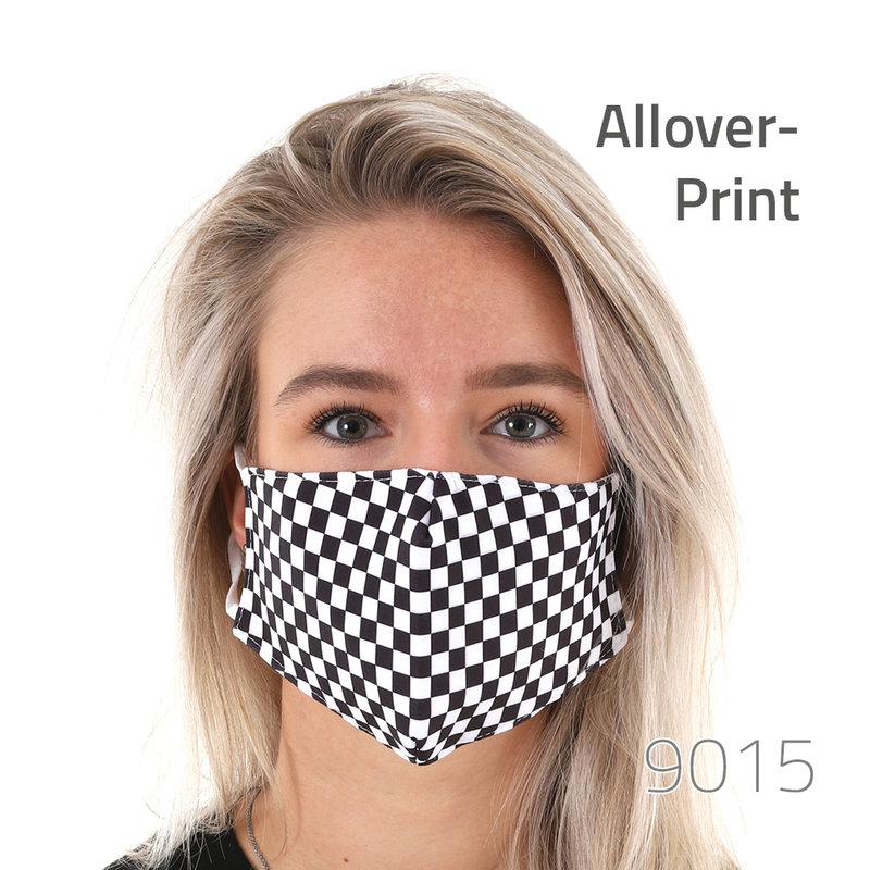Mund-Nase-Maske mit All-Over Druck