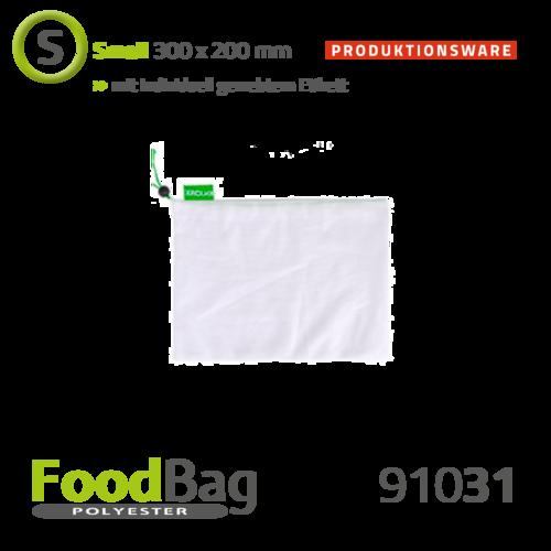 "Foodbag ""S"" PET - farbige Kordel - Produktionsware"
