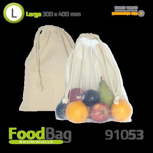 "Foodbag ""L"" Baumwolle / Nylon-Netz"