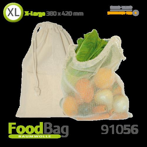 """Foodbag """"XL"""" Baumwolle / Baumwoll-Netz"""