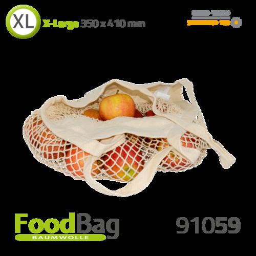 "Foodbag ""XL-Netz"" Baumwolle, lange Tragegriffe"