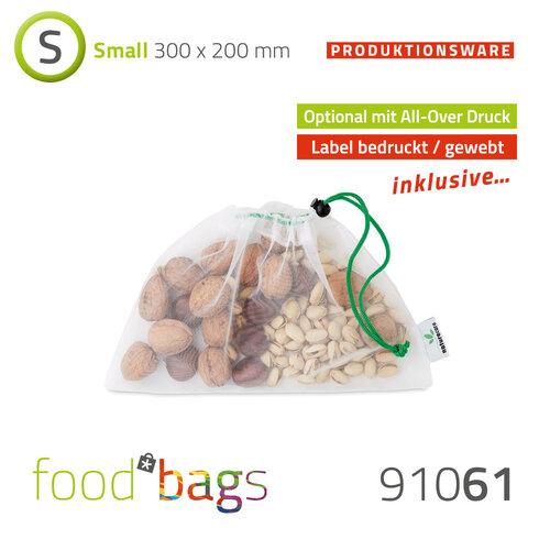 "Foodbag ""S"" All-Over-Digitaldruck - rPET Mesh-Beutel"