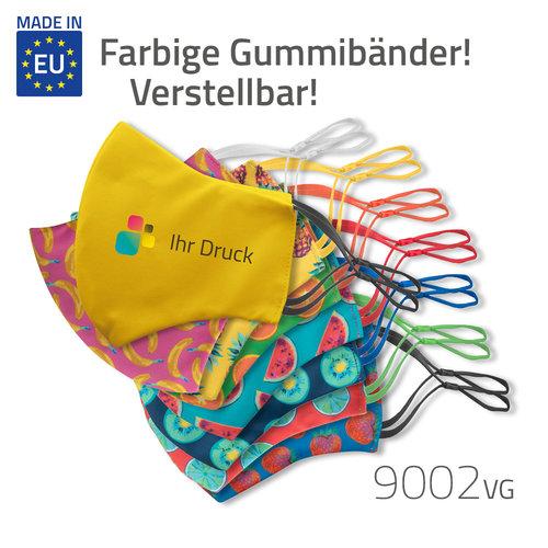Alltagsmaske mit farbigen, verstellbaren Gummibändern