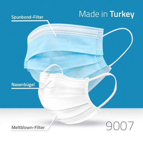 Einwegmaske 3-lagig - Türkei-Import