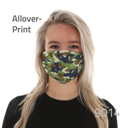 Maske mit All-Over Druck & Nasenbügel