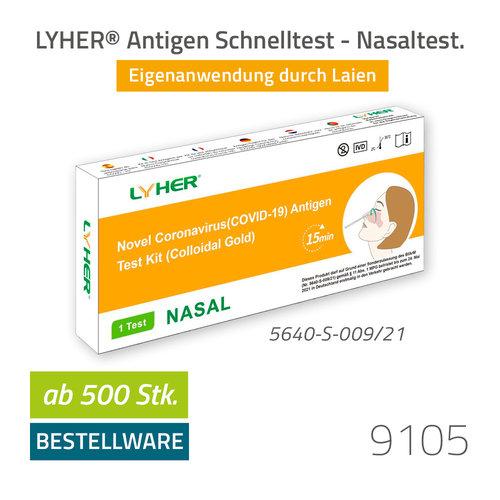 LYHER COVID-19 Antigen Schnelltest - Nasal (Selbsttest)